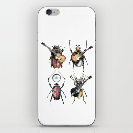 Meet the Beetles (white option) iPhone & iPod Skin