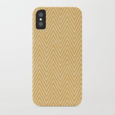 Mustard Chevron iPhone X Slim Case