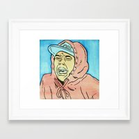 tyler spangler Framed Art Prints featuring Tyler by Michaela Coffman