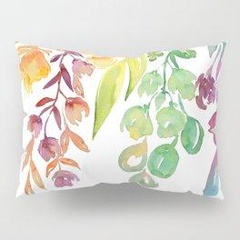 """Colorful ombre watercolor bouquet, """"Lindsay"""" Pillow Sham"""