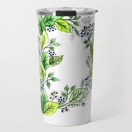 Flower Monogram D Travel Mug
