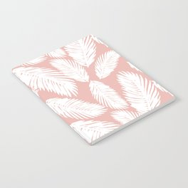 Pink Tropical Leaf Pattern Notebook