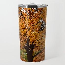 Trees Autumn ORANGE AND GOLD Travel Mug
