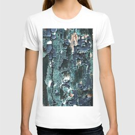 Abstract Turquoise Painted Wood T-shirt