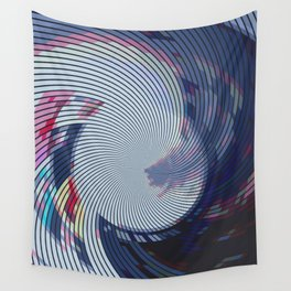 Pixellated Lotus Wall Tapestry