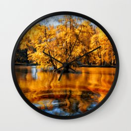 Colors of autumn 2. Wall Clock