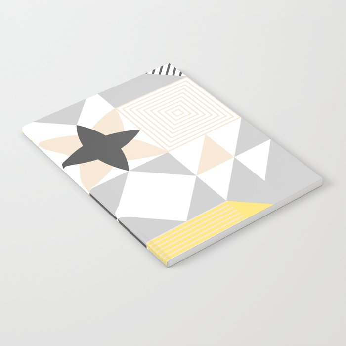 geometric pattern based on scandinavian graphic design notebook by
