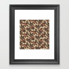Raccoon Lake - Red Framed Art Print