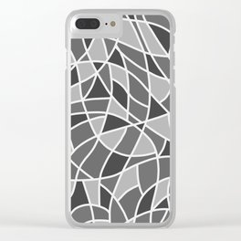 Curved mosaic 06 Clear iPhone Case