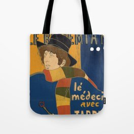 Le Bohemian Doctor Who by Lautrec Tote Bag