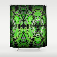 emerald Shower Curtains featuring Emerald by EBC art