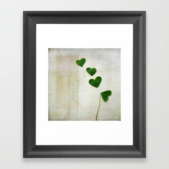 Love and Luck Framed Art Print