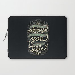 At My Table Laptop Sleeve