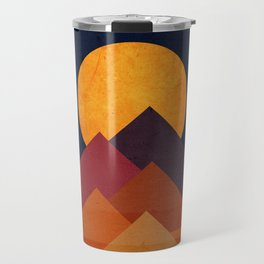 Full moon and pyramid Travel Mug