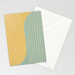 Two Tone Line Curvature XVII  Stationery Cards