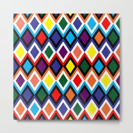 Harlequin - Wild Bright Diamonds Metal Print