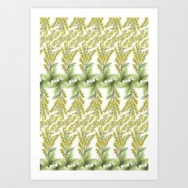 Absinthe flowers Art Print