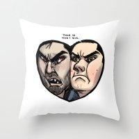sterek Throw Pillows featuring Sterek by lolbatty