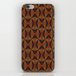 Red, Green And Gold Repeating Pattern iPhone Skin