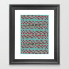 Field of Strawberries Framed Art Print