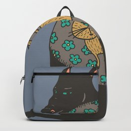 Black Dog in a Kitten Coat Backpack