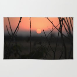 Sunset over Rye Marshes Rug