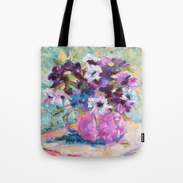 Blue Anemone Bouquet Tote Bag
