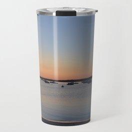 Brine & Boats • Sunset at Peaceful Pine Point Travel Mug