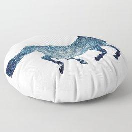 Horse - Running - Galaxy Floor Pillow