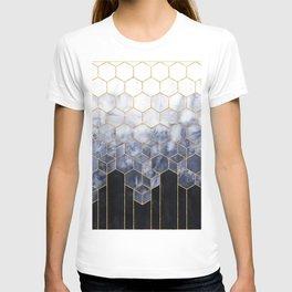 Cubes of Gold - Indigo Nights T-shirt