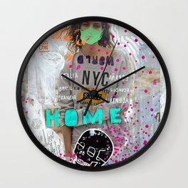 S T A Y   H O M E  Wall Clock