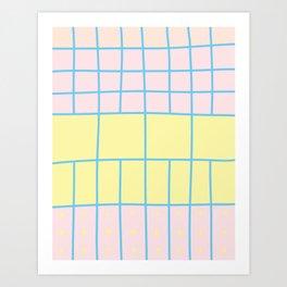 Funky Grid Art Print