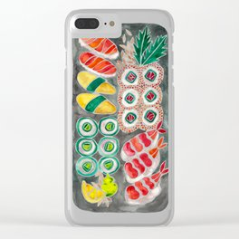 Sushi Collection – Black Platter Clear iPhone Case