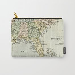 Vintage Map of the South Of The United States Of America Carry-All Pouch