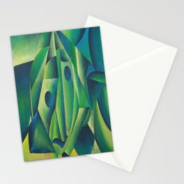 Cubist Abstract Of Village Woman Wearing A Headscarf Stationery Cards