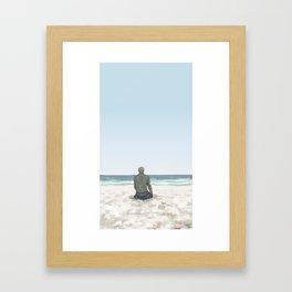 Rowan on the Beach Framed Art Print