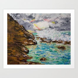SUNRISE AT BURLEIGH HEADS Art Print