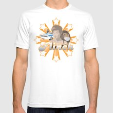 Flinch projet 01 White MEDIUM Mens Fitted Tee