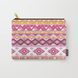 Modern Boho Aztec – Mulberry Pink and Plum Violet Carry-All Pouch