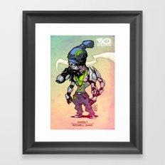 Roswell gang - Gangly - Villains of G universe Framed Art Print