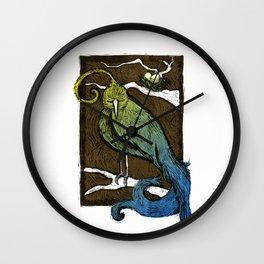Printed Bird Wall Clock