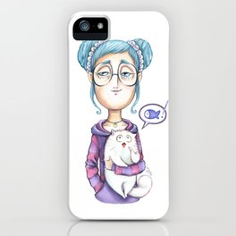 The always hungry cat iPhone Case
