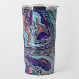 Colorful Abstract Marble Swirls Travel Mug
