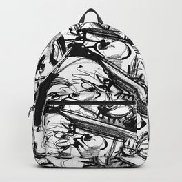 Chit-Chat - b&w Backpack