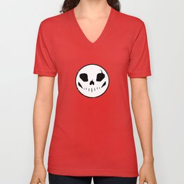 Bones button Unisex V-Neck