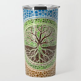 Yggdrasil- Tree of life Dot Art #1 Travel Mug