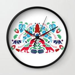 Jurassic Folk Wall Clock
