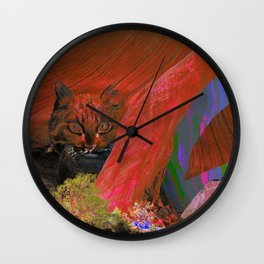 landscape collage #25 Wall Clock