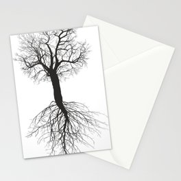 Mulberry tree without leaves with root Stationery Cards