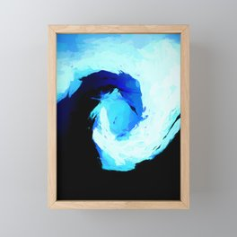 Square Surge of the Blue Tsunami Framed Mini Art Print
